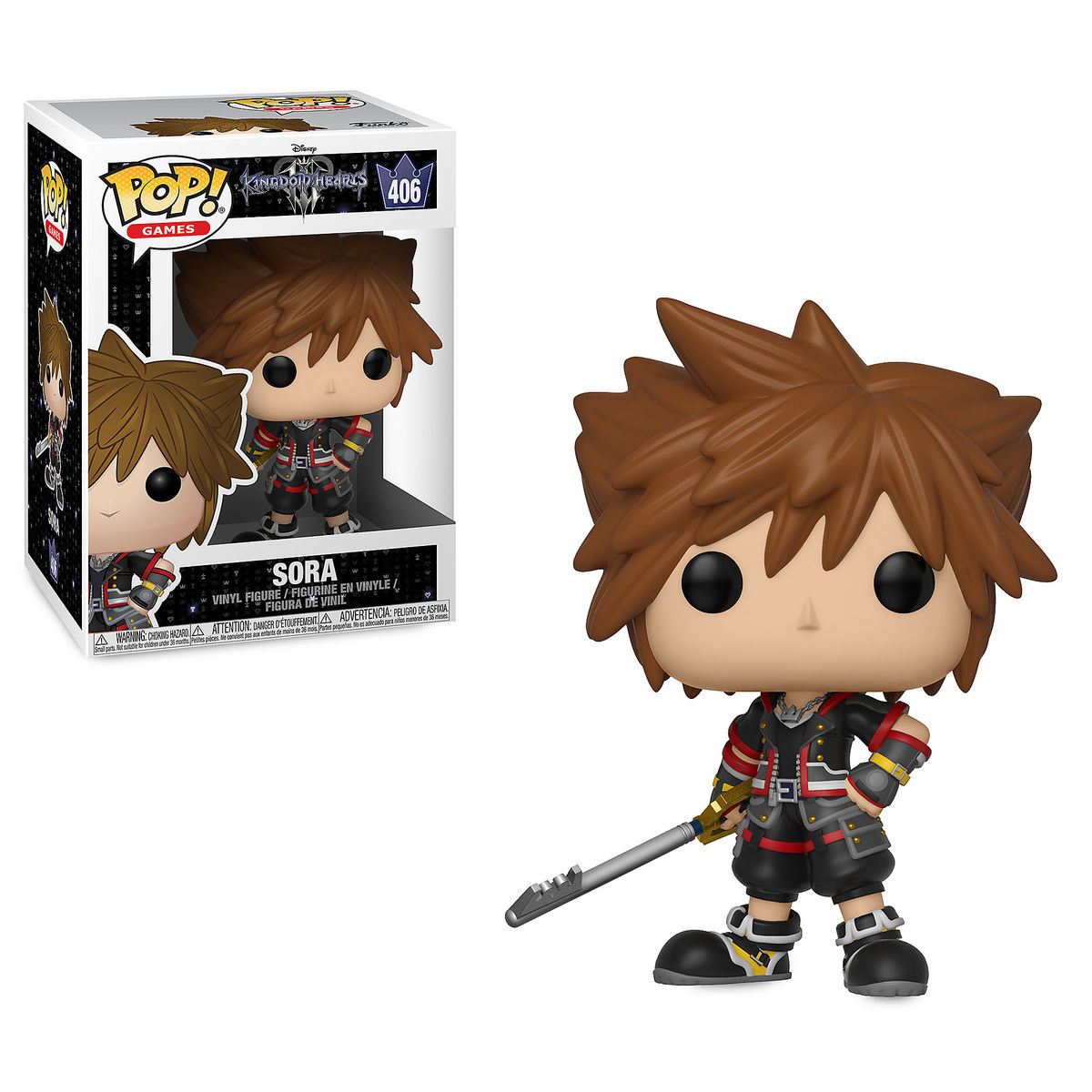 sora pop vinyl figure by funko kingdom hearts iii shopdisney