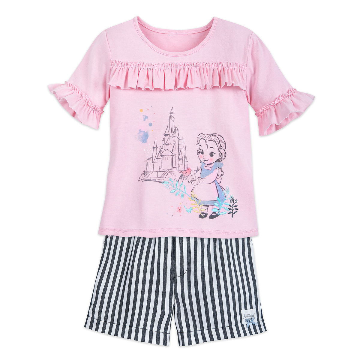 ab0b60991634d Product Image of Disney Animators' Collection Belle Top and Shorts Set for  Girls # 1