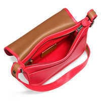 Image of Mickey Mouse Patricia Saddle Leather Bag by COACH - Red # 2