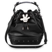 Image of Mickey Mouse Leather Cinch Tote # 1