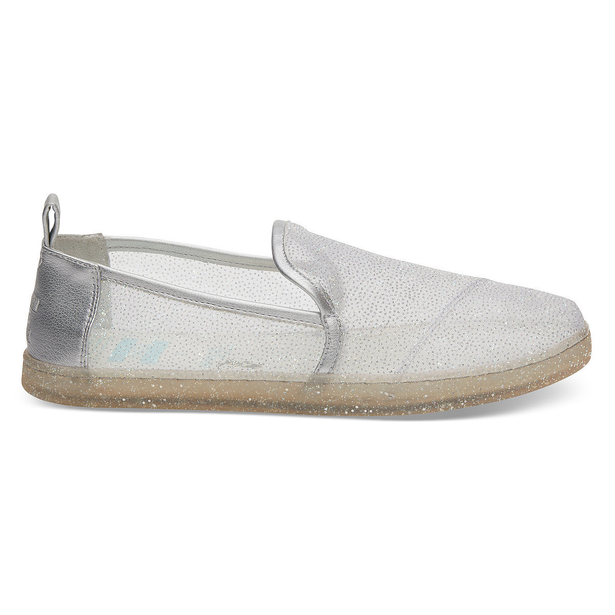 07865100576 Product Image of Gus and Jaq Glitter Mesh Shoes for Women by TOMS -  Cinderella