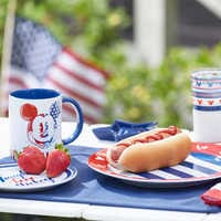 Image of Mickey Mouse Americana Dinner Plate # 2
