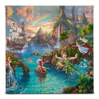 Image of ''Peter Pan's Never Land'' Gallery Wrapped Canvas by Thomas Kinkade Studios # 1