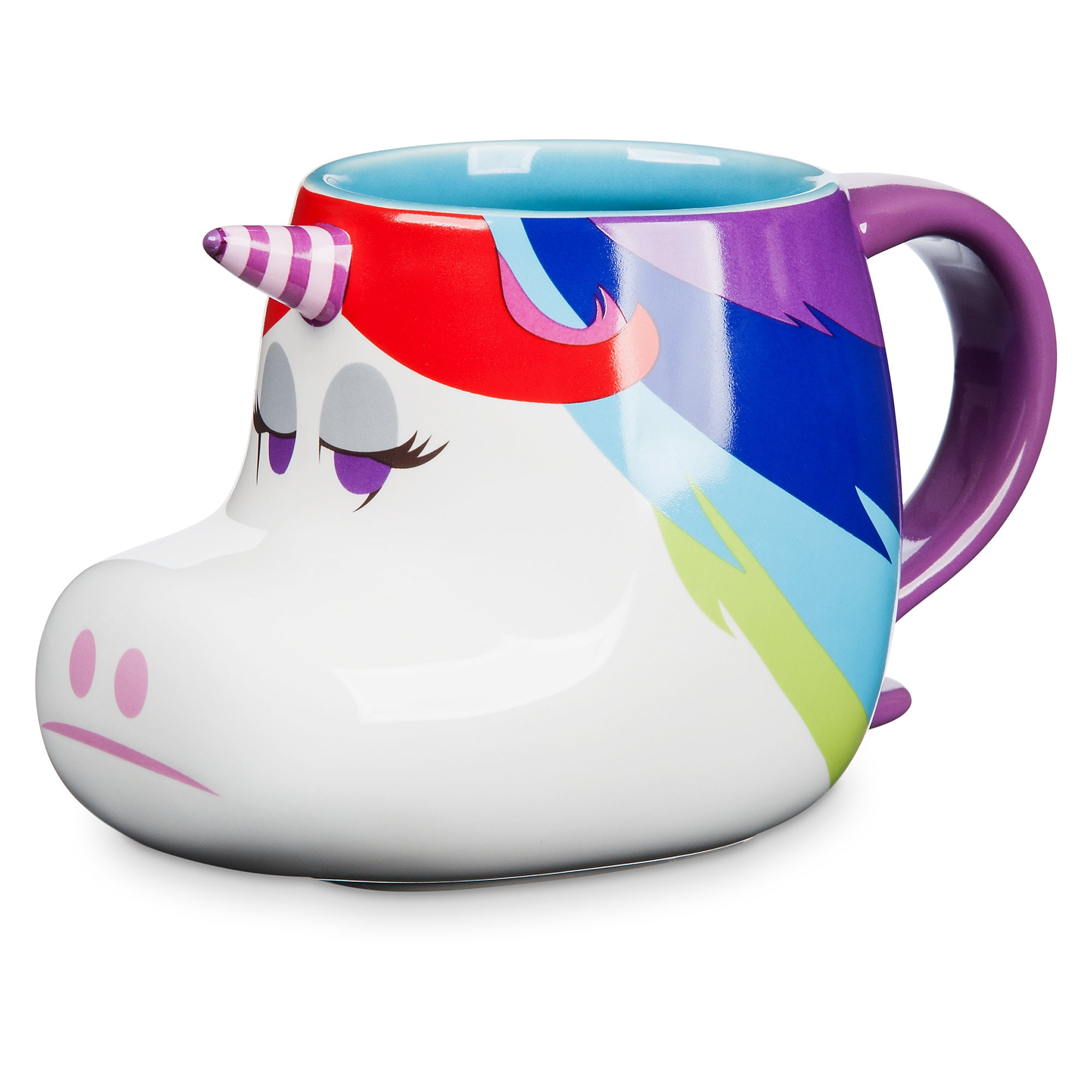 Rainbow Unicorn Figural Mug - Inside Out
