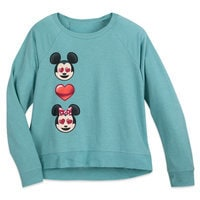 Mickey and Minnie Mouse Emoji Raglan Top - Women - Disney Boutique