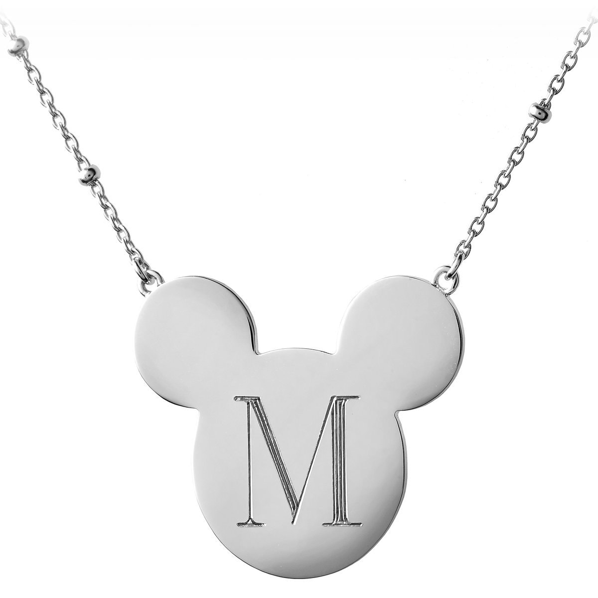 mickey mouse initial necklace hook personalizable