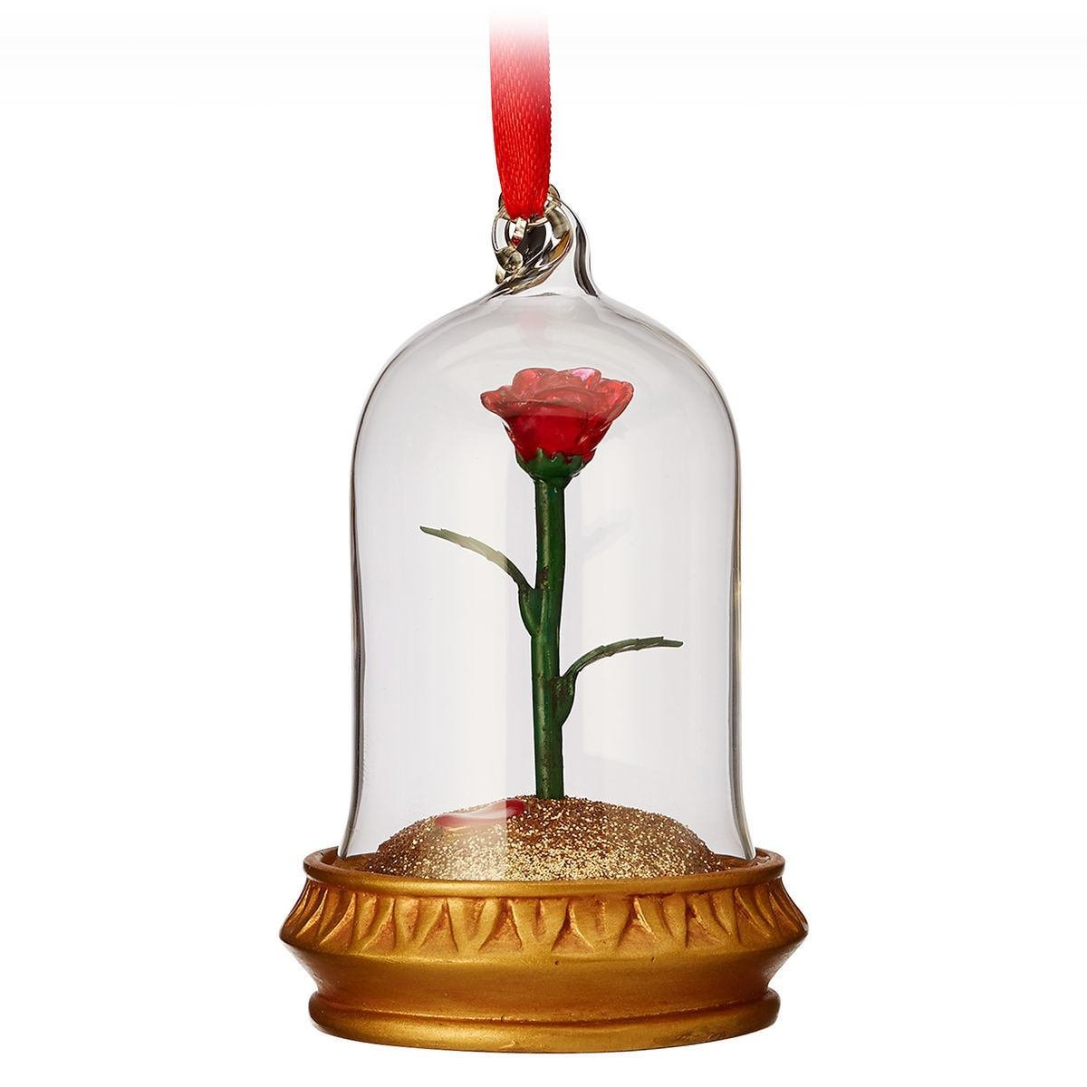 product image of enchanted rose light up sketchbook ornament beauty and the beast