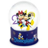 Image of Mickey and Minnie Mouse Mini Snowglobe - Disneyland 2019 # 1