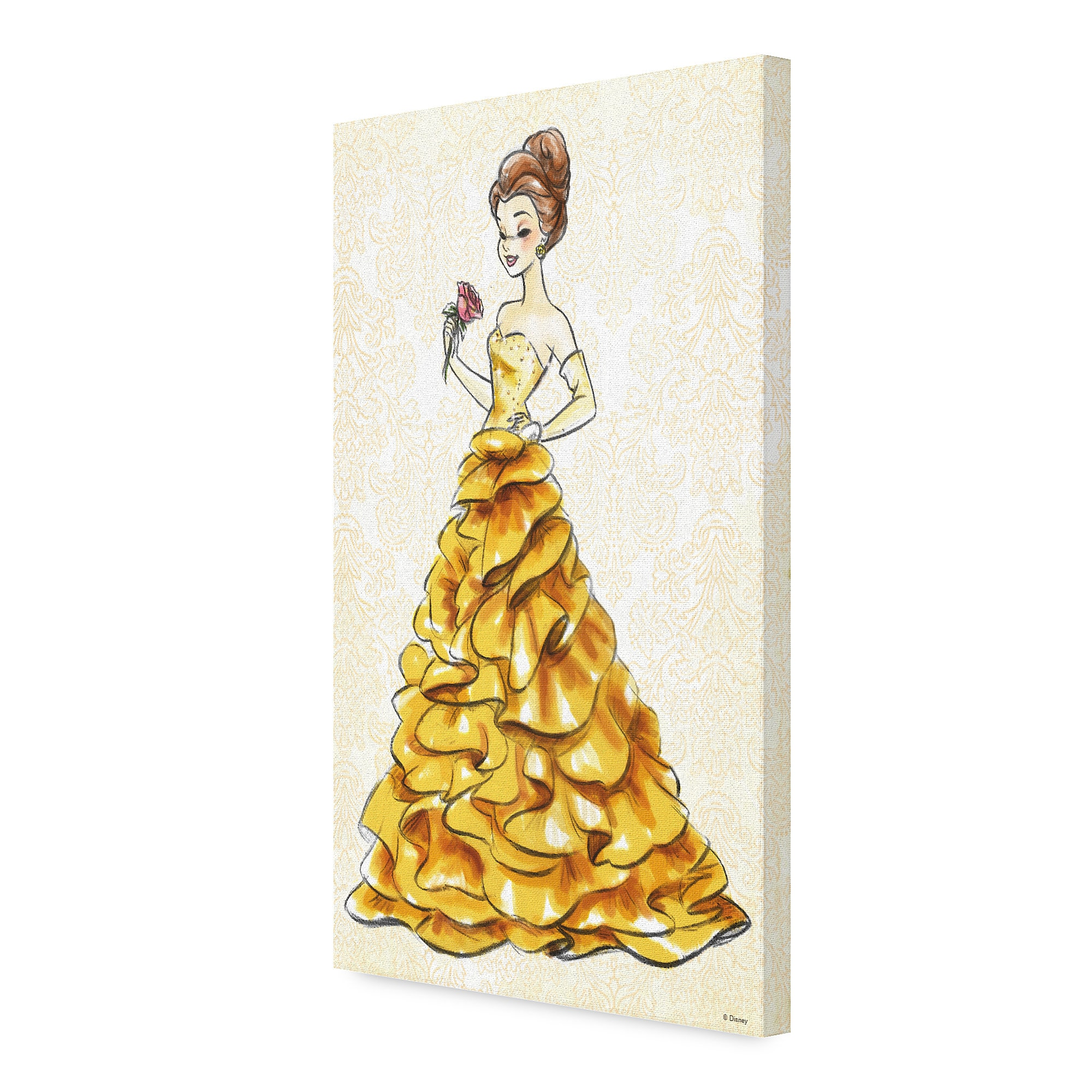 Belle Canvas Print - Art of Princess Designer Collection