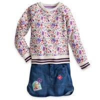 Rapunzel Denim Skirt Set for Girls
