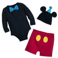 Image of Mickey Mouse Tuxedo Bodysuit Set for Baby - Disneyland # 1