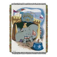 Image of Dumbo Woven Tapestry Throw # 1