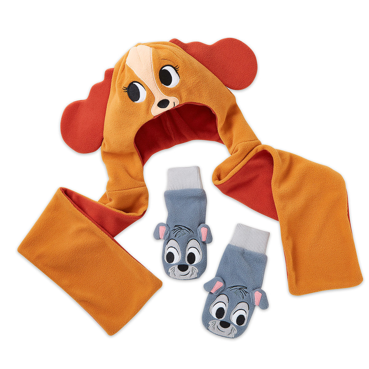 Product Image of Lady and the Tramp Warmwear Accessories Set - Disney Furrytale friends # 1