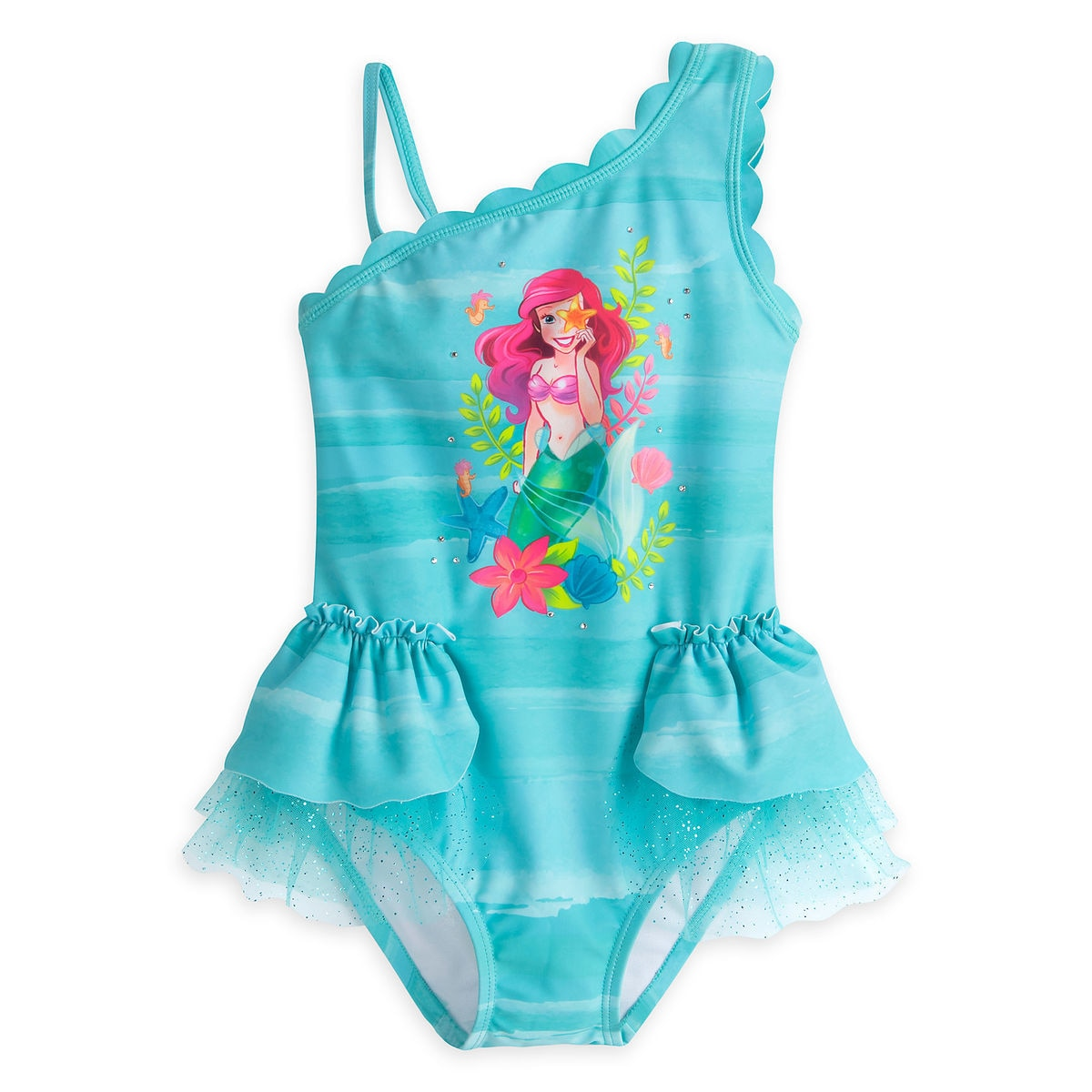5733138cbf7e7 Product Image of Ariel Deluxe Swimsuit for Girls   1
