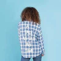 Image of Belle Flannel Shirt for Adults by Cakeworthy # 6