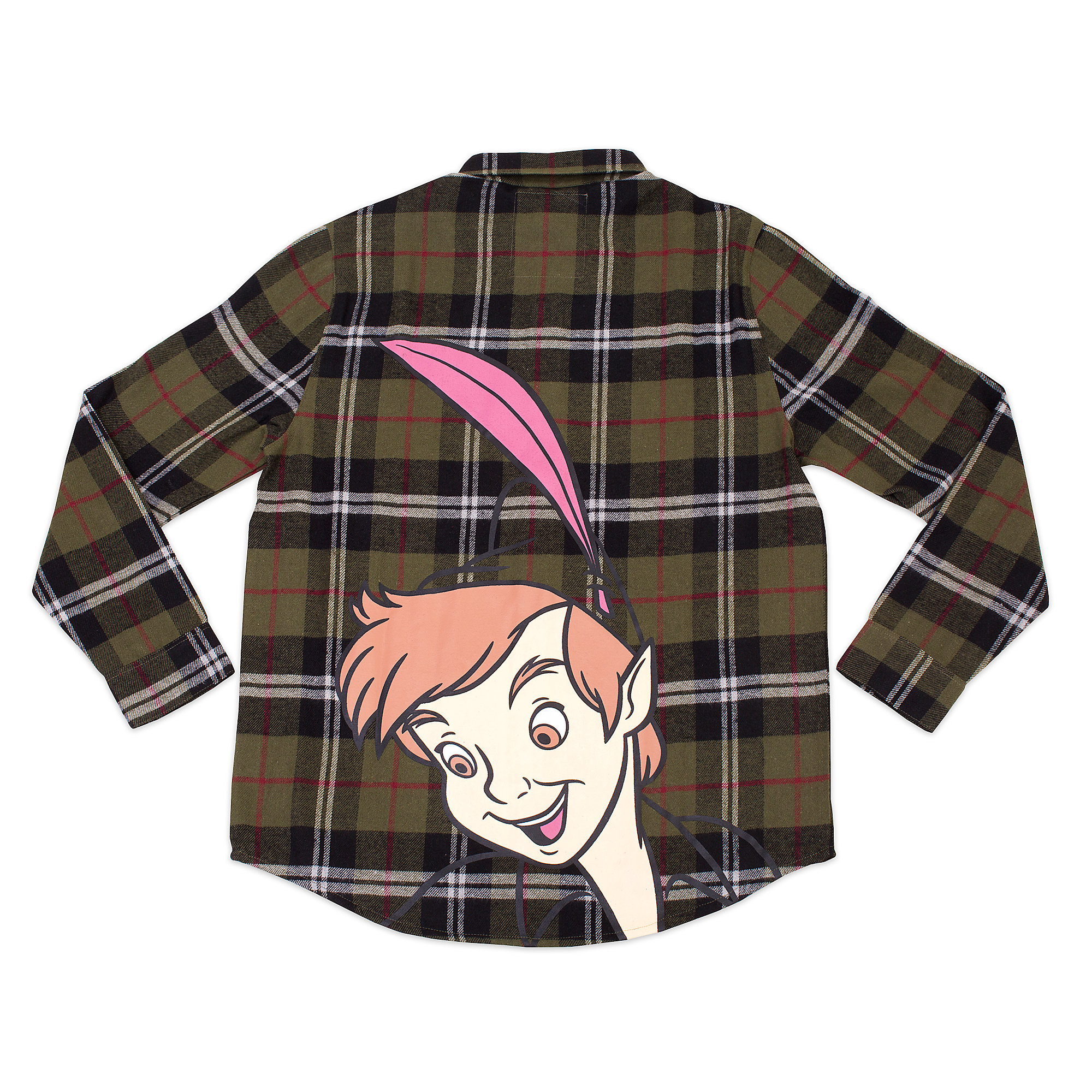 Peter Pan Flannel Shirt for Adults by Cakeworthy