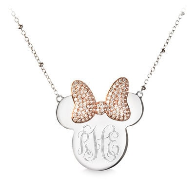 Minnie Mouse Monogram Necklace by Rebecca Hook - Personalizable Official shopDisney