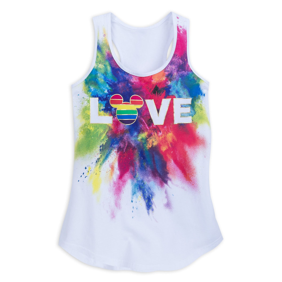 Product Image of Rainbow Mickey Collection Fitted Tank Top for Adults # 1