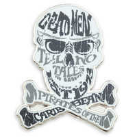 Image of Pirates of the Caribbean Skull and Crossbones Pin # 1