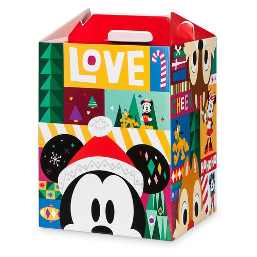 Santa Mickey Mouse and Friends Gift Barn Box - Large