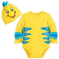Image of Flounder Costume Bodysuit for Baby - The Little Mermaid # 1