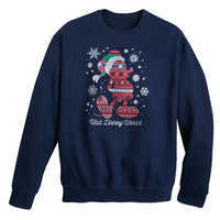 Image of Santa Mickey Mouse Fair Isle Pullover for Adults - Walt Disney World # 1