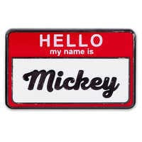 Image of Mickey Mouse ''Hello, My Name is'' Pin # 1