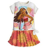 Image of Moana Shirt and Skirt Set for Girls # 1