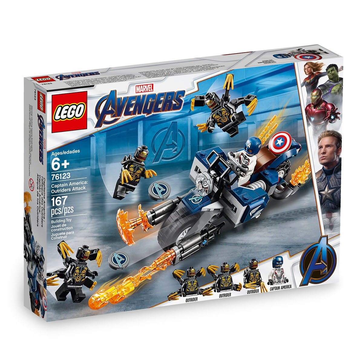 Lego Captain AvengersEndgame Attack Marvel's America Outriders Set Play By N8vmnw0O