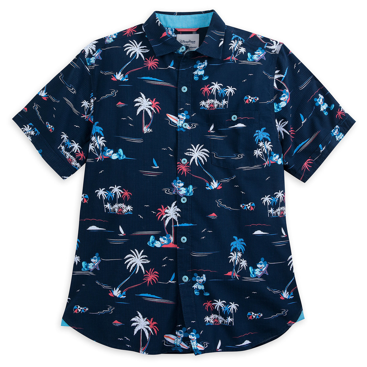 7250e5f7 Product Image of Mickey Mouse Button Shirt for Men by Tommy Bahama - Navy #  1