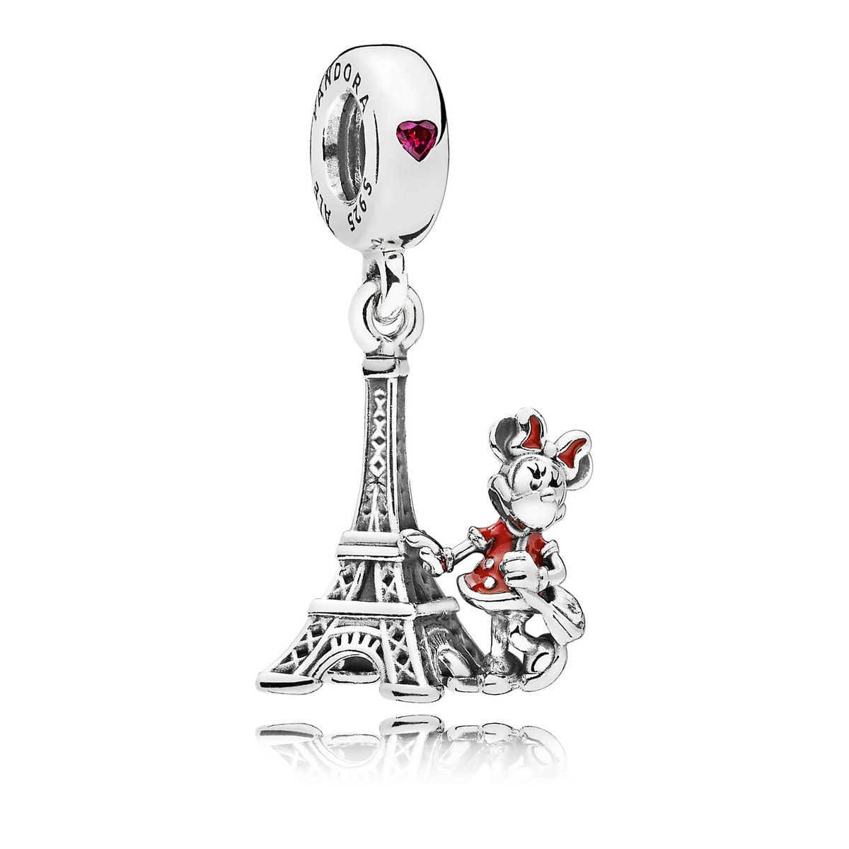 minnie mouse eiffel tower charm by pandora shopdisney