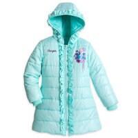 Elsa Puffer Jacket For Girls - Personalizable