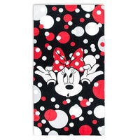Image of Minnie Mouse Polka Dot Beach Towel # 1