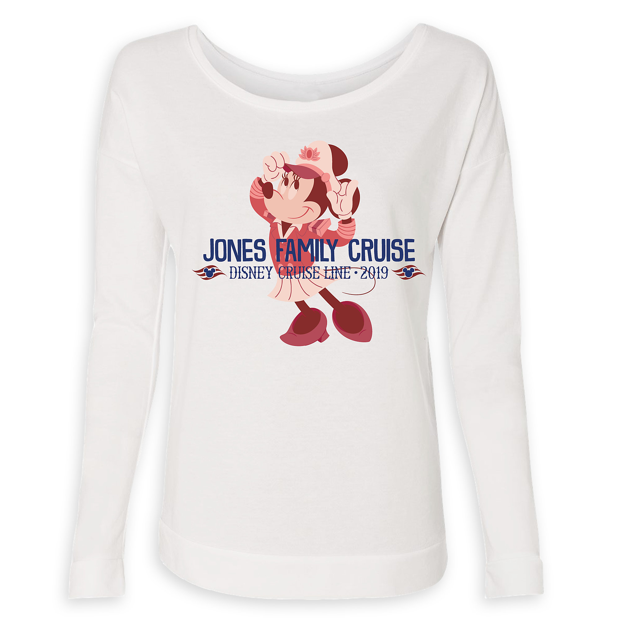 4cc341813a8b Women's Captain Minnie Mouse Disney Cruise Line Family Cruise 2019 Long Sleeve  T-Shirt – Customized is now out for purchase