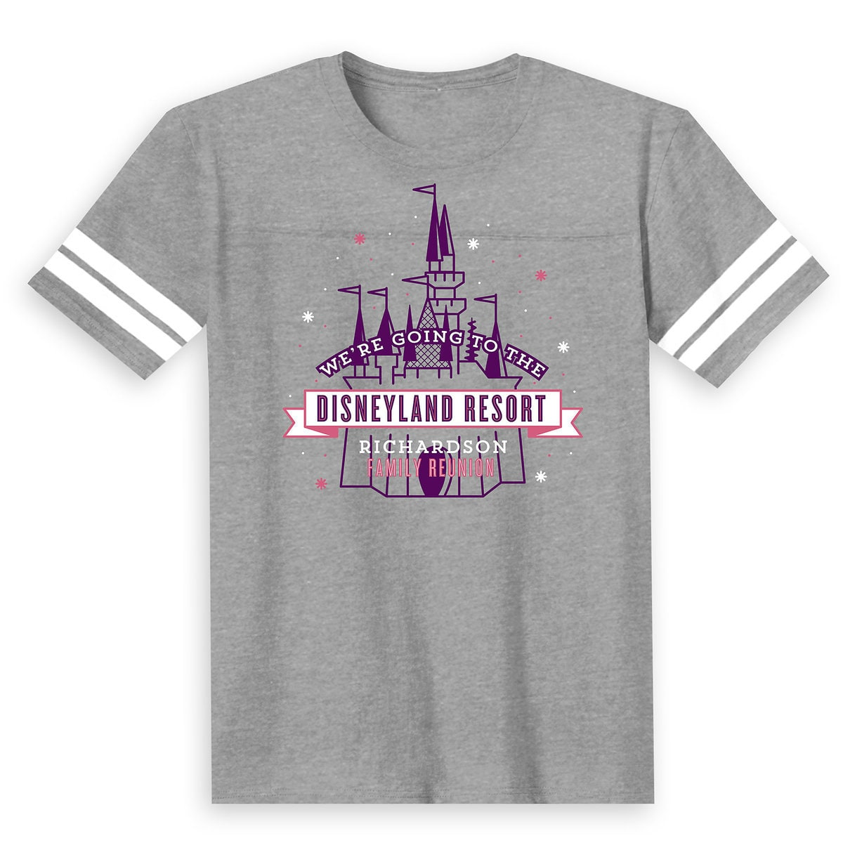 6fe78feec Product Image of Kids' Sleeping Beauty Castle Family Reunion Football T- Shirt - Disneyland