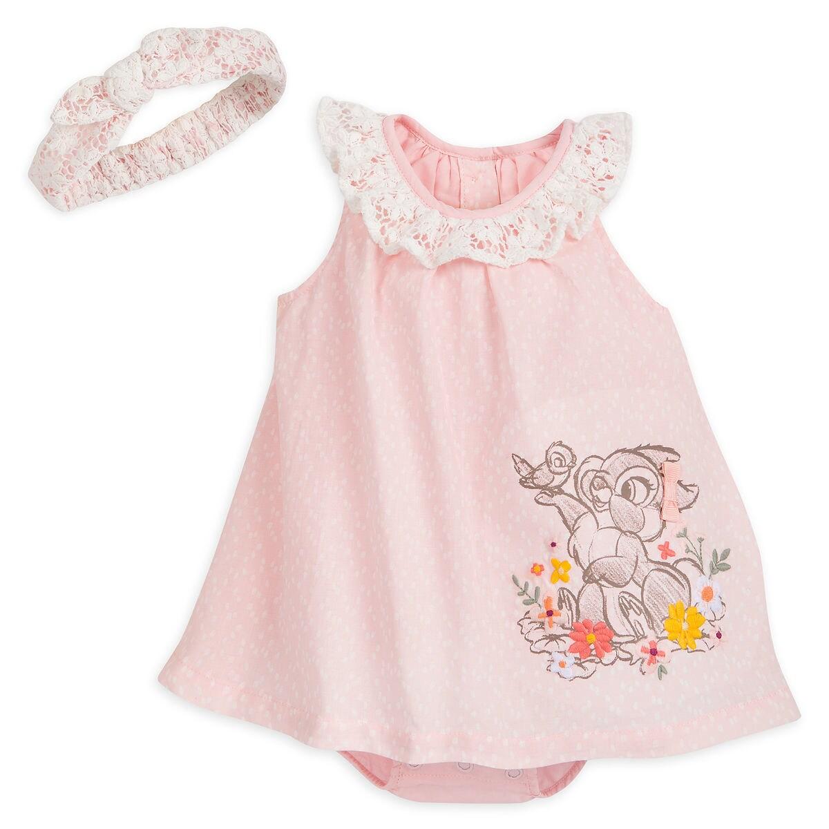59e7f44b6 Miss Bunny Romper Dress Set for Baby