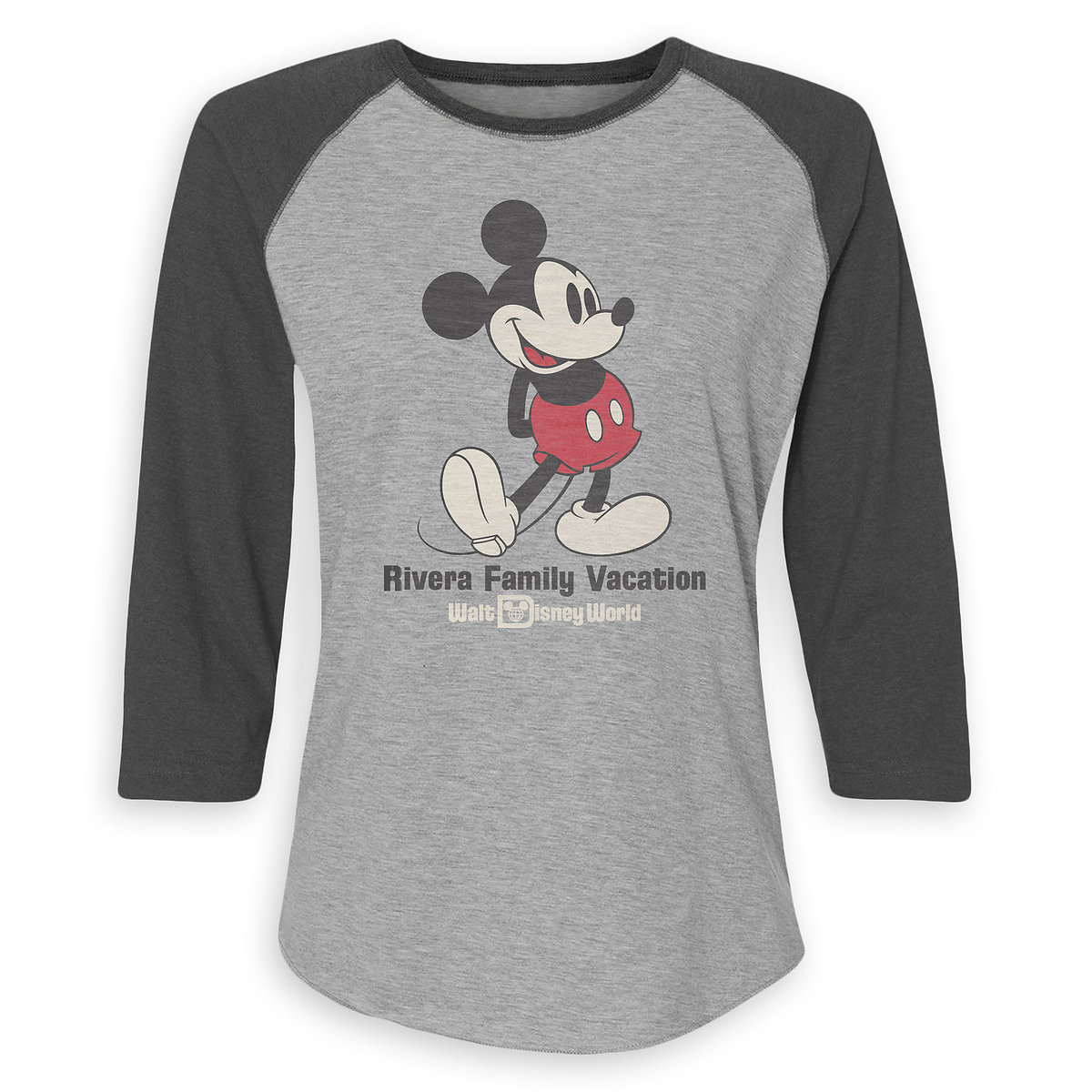 bbd18ccb Product Image of Women's Mickey Mouse Family Vacation Raglan T-Shirt - Walt Disney  World