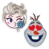Image of Frozen Emoji Sticker Patch Set # 1