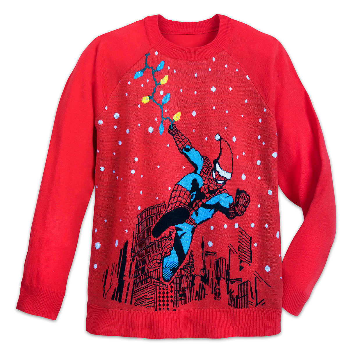 d061fa01b Product Image of Spider-Man Light-Up Holiday Sweater for Adults # 1