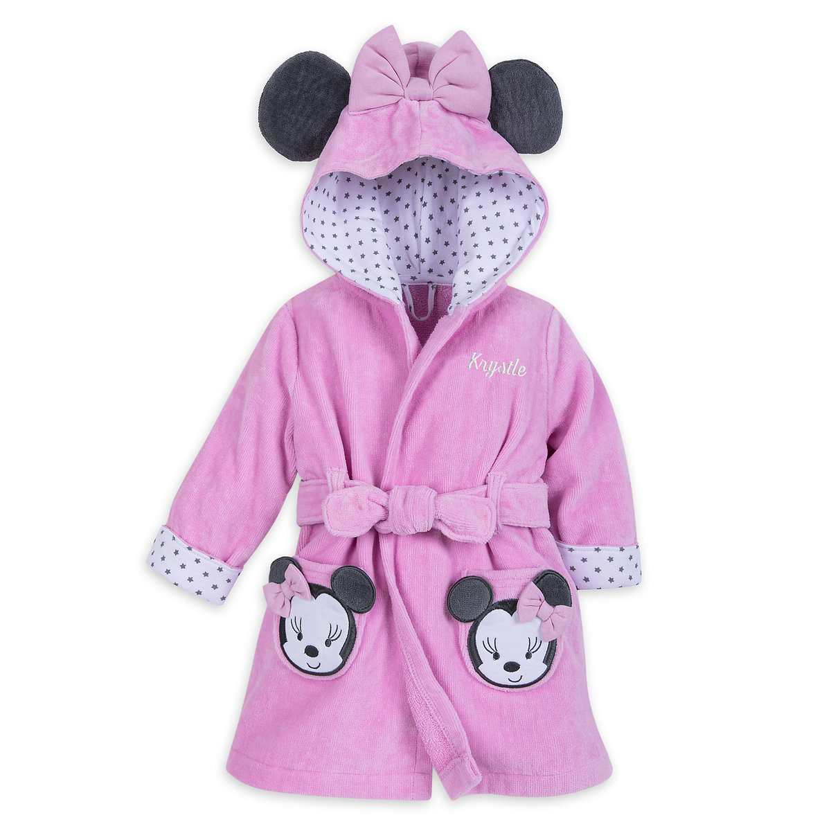 9dbc96b10 Product Image of Minnie Mouse Hooded Bath Robe for Baby - Personalizable # 1