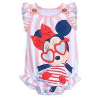 Image of Minnie Mouse Striped Bodysuit for Baby # 1