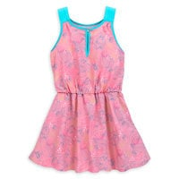 Image of The Little Mermaid Woven Romper for Girls # 2