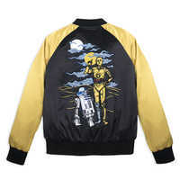 Image of Star Wars 40th Anniversary Satin Varsity Jacket for Women by Her Universe # 2