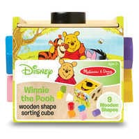 Image of Winnie the Pooh and Pals Wooden Shape Sorting Cube by Melissa & Doug # 4