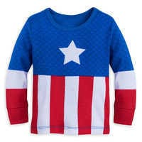 Image of Captain America Costume PJ PALS for Baby # 2