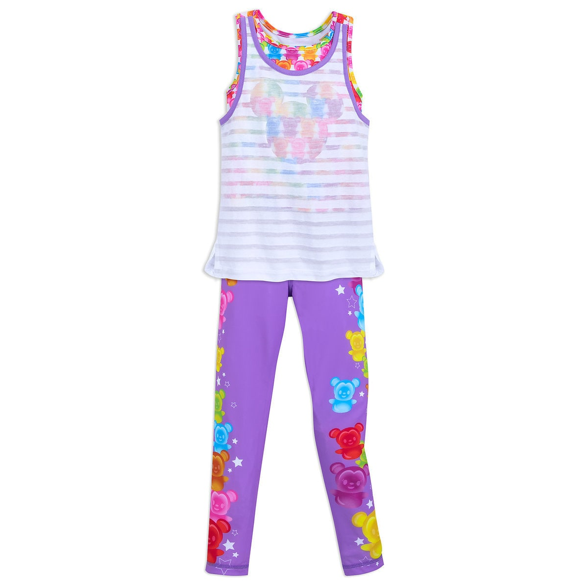 0ad11e1247ef85 Product Image of Mickey and Minnie Mouse Tank Top and Leggings Set for  Girls # 1