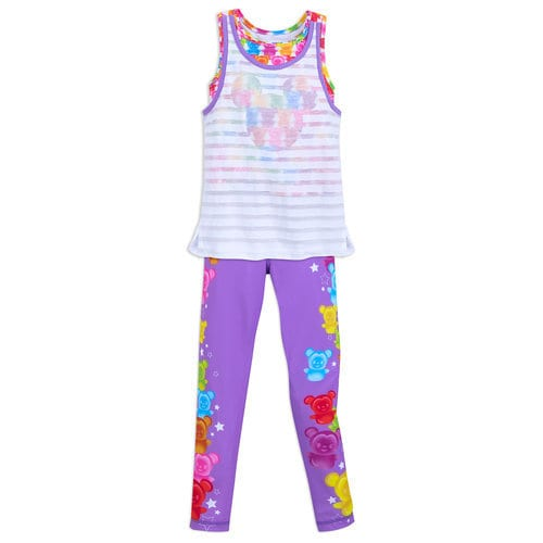 Mickey and Minnie Mouse Tank Top and Leggings Set for Girls