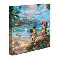 Image of ''Mickey and Minnie in Hawaii'' Gallery Wrapped Canvas by Thomas Kinkade Studios # 2