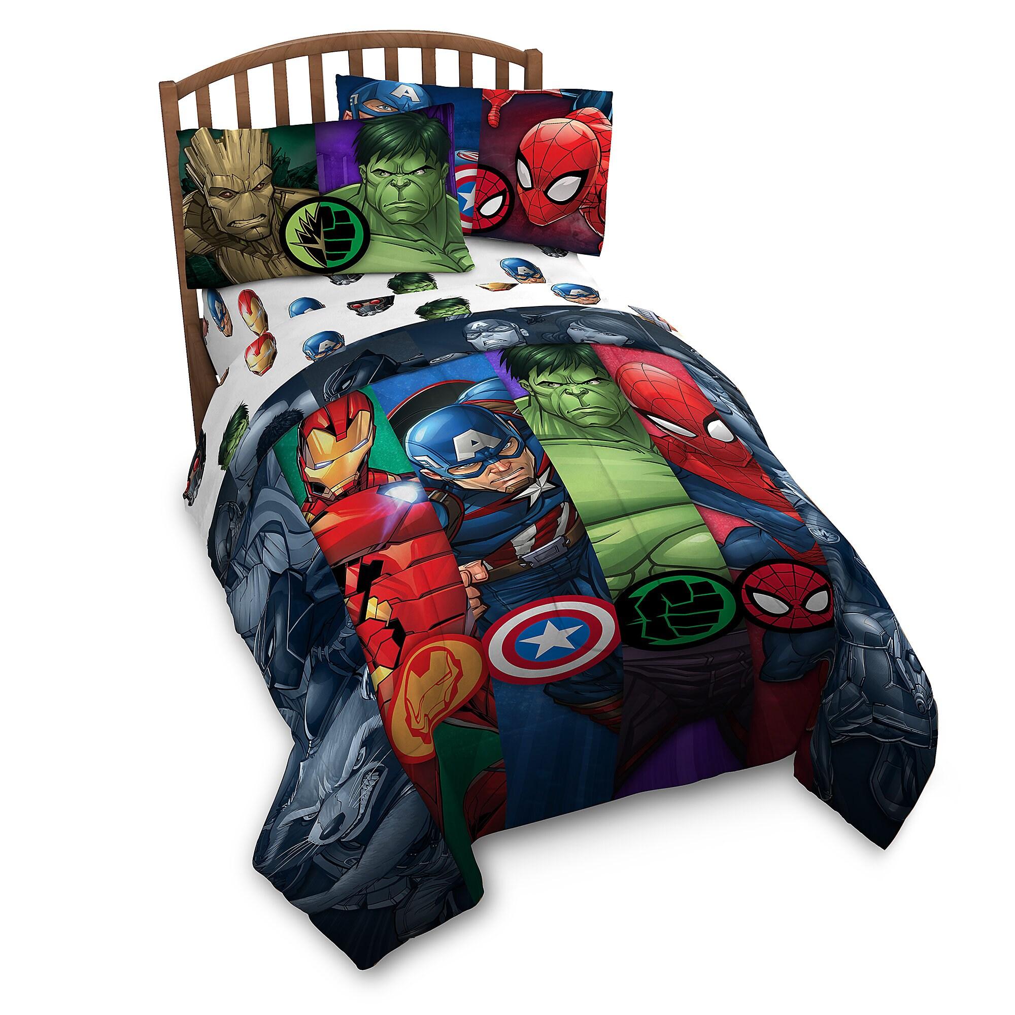 reversible itm queen lifestyle avengers king stripe comforter marvel