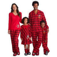 Image of Mickey Mouse Holiday Plaid PJ Set for Boys - Personalizable # 2